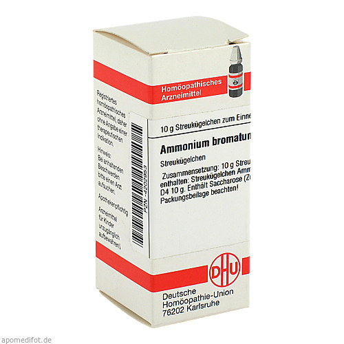 AMMONIUM BROMAT D 4, 10 G, Dhu-Arzneimittel GmbH & Co. KG