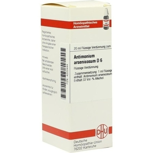 ANTIMONIUM ARSENIC D 6, 20 ML, Dhu-Arzneimittel GmbH & Co. KG