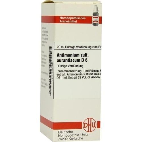 ANTIMONIUM SULF AURANT D 6, 20 ML, Dhu-Arzneimittel GmbH & Co. KG