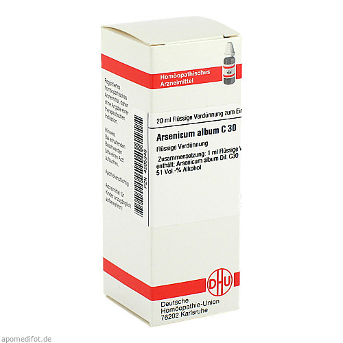 ARSENICUM ALB C30, 20 ML, Dhu-Arzneimittel GmbH & Co. KG