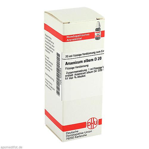 ARSENICUM ALB D20, 20 ML, Dhu-Arzneimittel GmbH & Co. KG