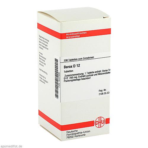 BORAX D12, 200 ST, Dhu-Arzneimittel GmbH & Co. KG