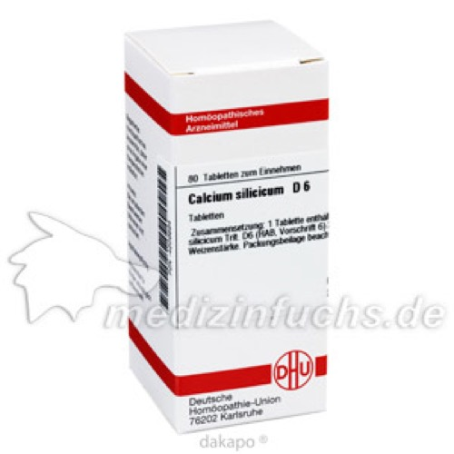 CALCIUM SILIC D 6, 80 ST, Dhu-Arzneimittel GmbH & Co. KG