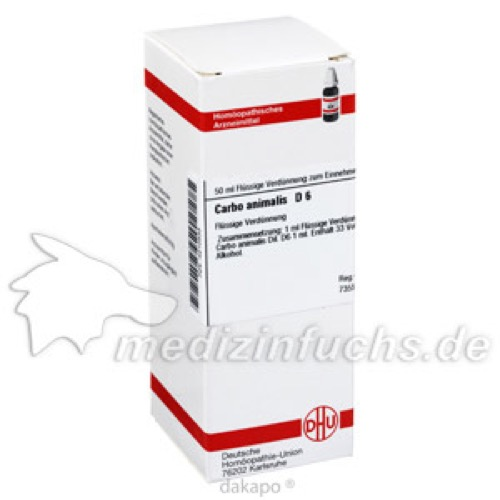 CARBO ANIMALIS D 6, 50 ML, Dhu-Arzneimittel GmbH & Co. KG