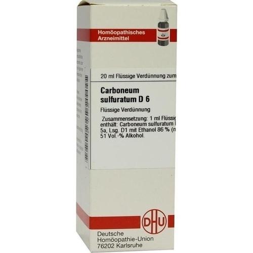 CARBONEUM SULFUR D 6, 20 ML, Dhu-Arzneimittel GmbH & Co. KG