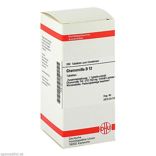 CHAMOMILLA D12, 200 ST, Dhu-Arzneimittel GmbH & Co. KG