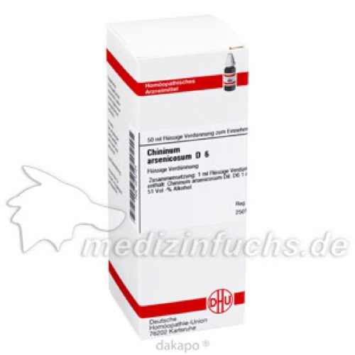 CHININUM ARSEN D 6, 50 ML, Dhu-Arzneimittel GmbH & Co. KG