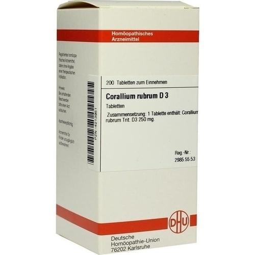CORALLIUM RUBRUM D 3 Tabletten, 200 ST, DHU-Arzneimittel GmbH & Co. KG