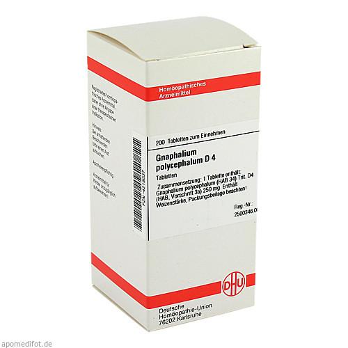 GNAPHALIUM POLYC D 4, 200 ST, Dhu-Arzneimittel GmbH & Co. KG