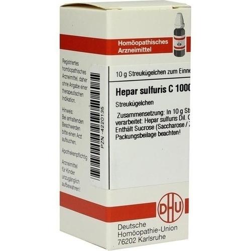 HEPAR SULFURIS C 1000 Globuli, 10 G, DHU-Arzneimittel GmbH & Co. KG