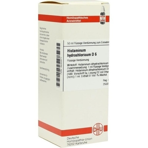 HISTAMINUM hydrochloricum D 6 Dilution, 50 ML, DHU-Arzneimittel GmbH & Co. KG