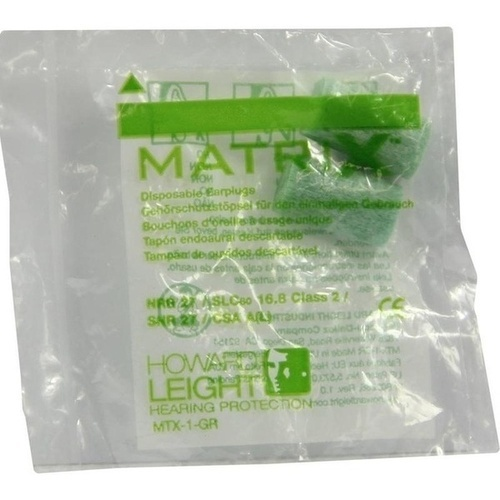 HOWARD LEIGHT MATRIX GREEN GEHOERSCHUTZSTÖPSEL, 2 ST, Axisis GmbH