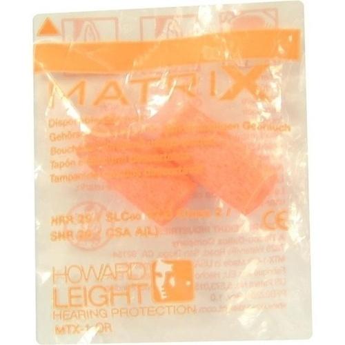 HOWARD Leight Matrix orange Gehörschutzstöpsel, 2 ST, Axisis GmbH