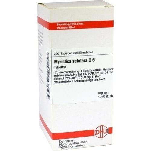 MYRISTICA SEBIFERA D 6 Tabletten, 200 ST, DHU-Arzneimittel GmbH & Co. KG