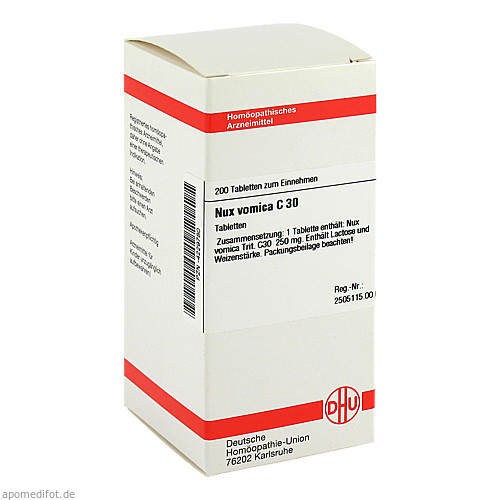 NUX VOMICA C30, 200 ST, Dhu-Arzneimittel GmbH & Co. KG