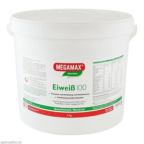 Eiweiss 100 Neutral MEGAMAX, 5 KG, Megamax B.V.