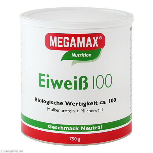 Eiweiss 100 Neutral MEGAMAX, 750 G, Megamax B.V.