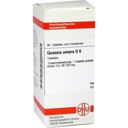 QUASSIA D 6, 80 ST, Dhu-Arzneimittel GmbH & Co. KG