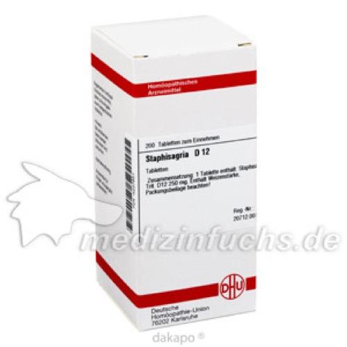 STAPHISAGRIA D12, 200 ST, Dhu-Arzneimittel GmbH & Co. KG