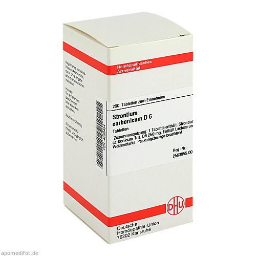 STRONTIUM CARBONICUM D 6, 200 ST, Dhu-Arzneimittel GmbH & Co. KG