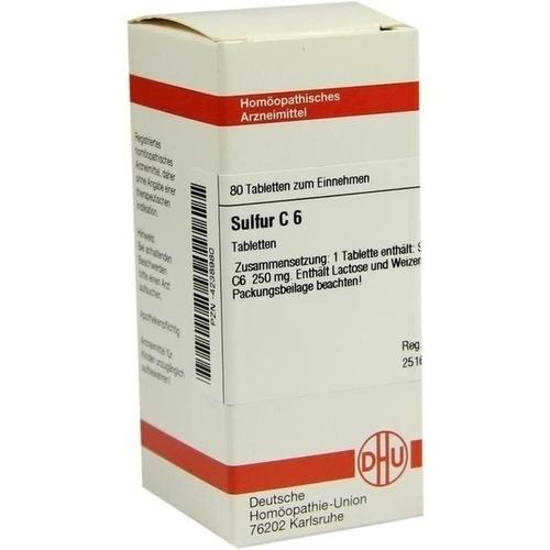 SULFUR C 6, 80 ST, Dhu-Arzneimittel GmbH & Co. KG