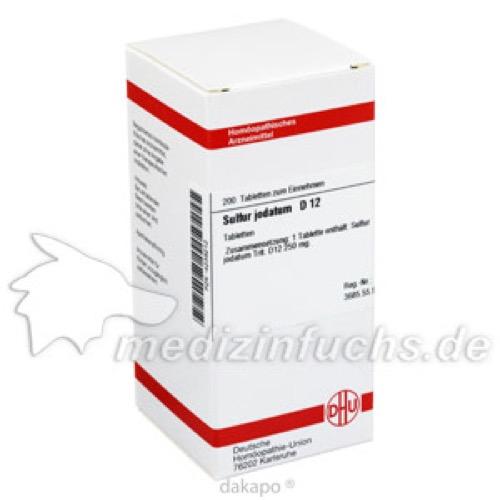 SULFUR JODAT D12, 200 ST, Dhu-Arzneimittel GmbH & Co. KG