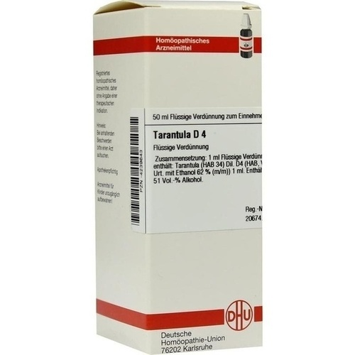 TARANTULA D 4, 50 ML, Dhu-Arzneimittel GmbH & Co. KG