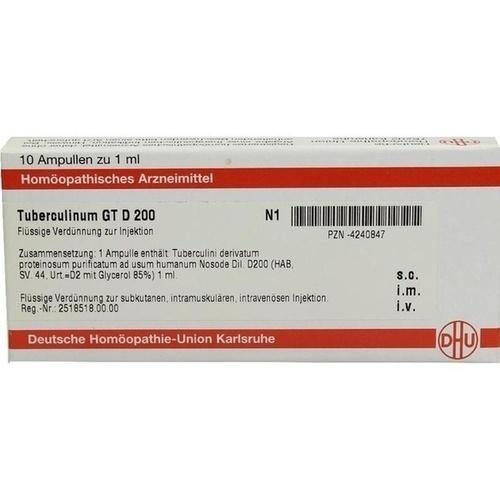 TUBERCULINUM GT D 200 Ampullen, 10X1 ML, DHU-Arzneimittel GmbH & Co. KG