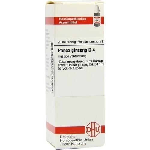 PANAX GINSENG D 4, 20 ML, Dhu-Arzneimittel GmbH & Co. KG