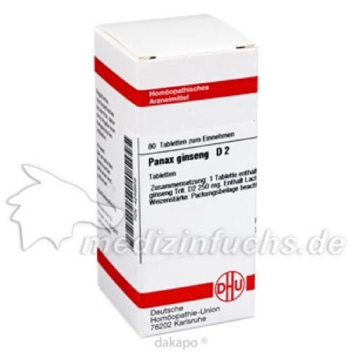 PANAX GINSENG D 2, 80 ST, Dhu-Arzneimittel GmbH & Co. KG