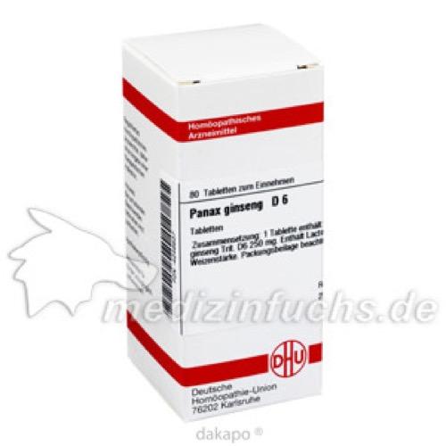 PANAX GINSENG D 6, 80 ST, Dhu-Arzneimittel GmbH & Co. KG