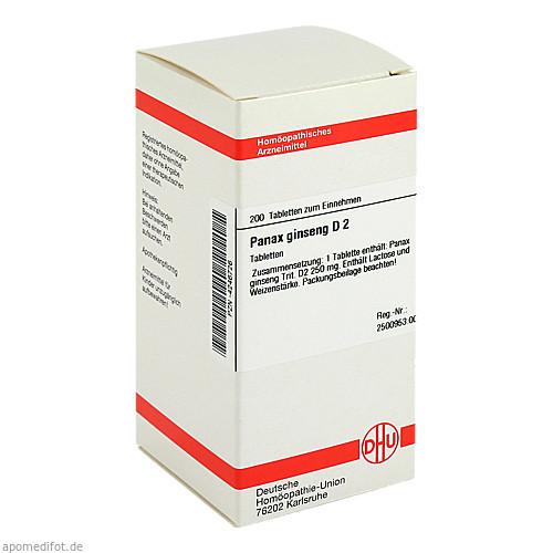 PANAX GINSENG D 2, 200 ST, Dhu-Arzneimittel GmbH & Co. KG
