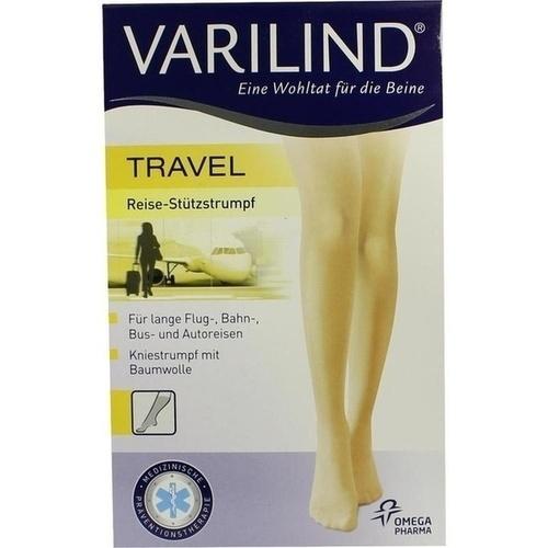 VARILIND TRAVEL Knie Baumwolle beige S, 2 ST, Paracelsia Pharma GmbH