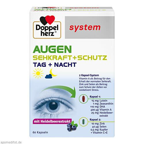 Doppelherz Augen Sehkraft+Schutz system, 60 ST, Queisser Pharma GmbH & Co. KG