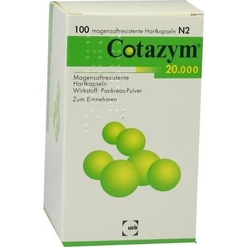 COTAZYM 20.000 Pellets magensaftresistente Kapseln, 100 ST, CHEPLAPHARM Arzneimittel GmbH