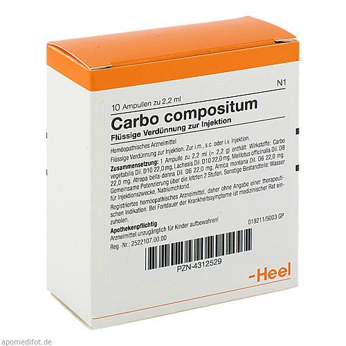 CARBO COMP, 10 ST, Biologische Heilmittel Heel GmbH
