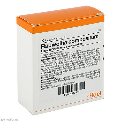 RAUWOLFIA COMP, 10 ST, Biologische Heilmittel Heel GmbH