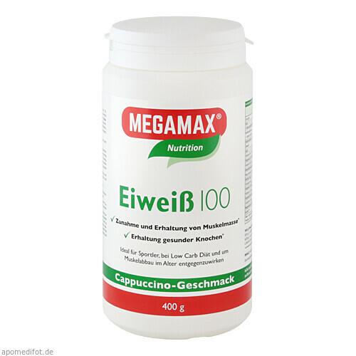 Eiweiss 100 Cappuccino Megamax, 400 G, Megamax B.V.
