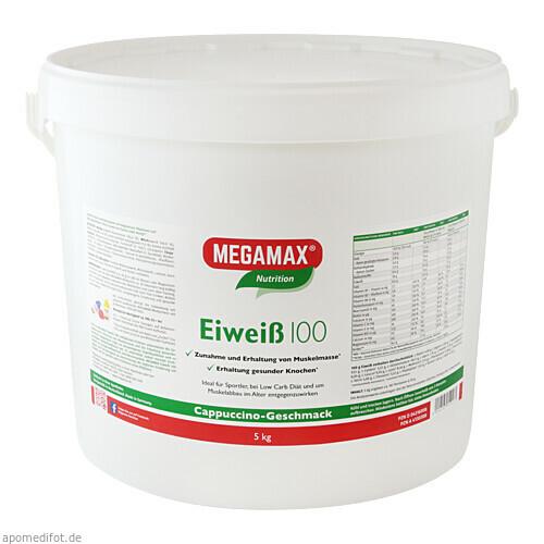 Eiweiss 100 Cappuccino Megamax, 5000 G, Megamax B.V.