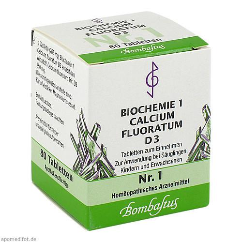 Biochemie 1 Calcium fluoratum D 3, 80 ST, Bombastus-Werke AG