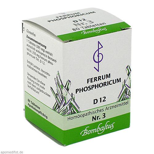 Biochemie 3 Ferrum phosphoricum D 12, 80 ST, Bombastus-Werke AG