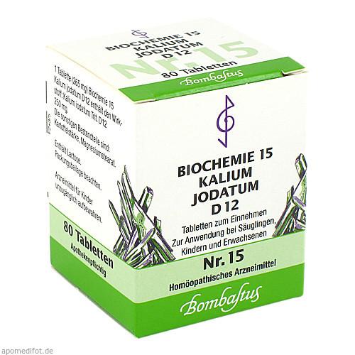 BIOCHEMIE 15 Kalium jodatum D 12 Tabletten, 80 ST, Bombastus-Werke AG
