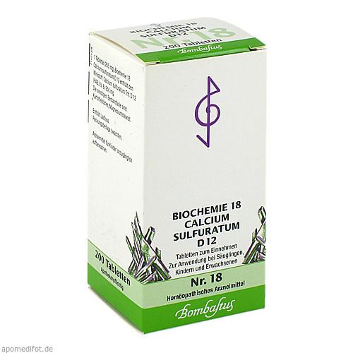 Biochemie 18 Calcium sulfuratum D12, 200 ST, Bombastus-Werke AG