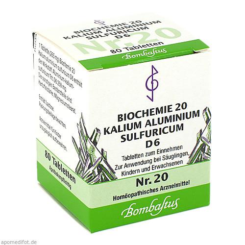 Biochemie 20 Kalium aluminium sulfuricum D 6, 80 ST, Bombastus-Werke AG