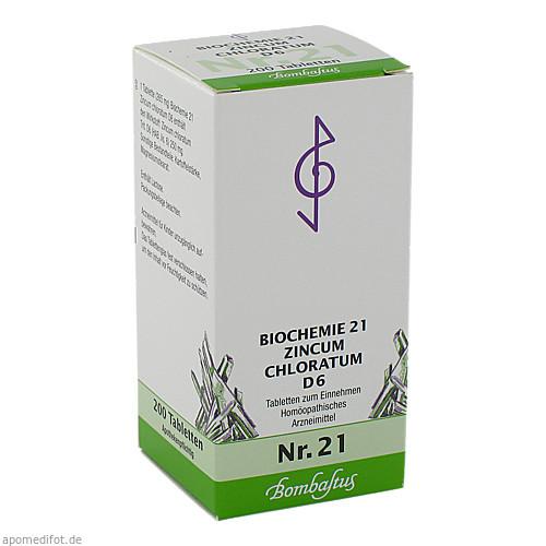 Biochemie 21 Zincum chloratum D 6, 200 ST, Bombastus-Werke AG