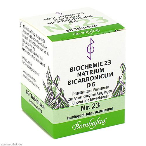 Biochemie 23 Natrium bicarbonicum D 6, 80 ST, Bombastus-Werke AG