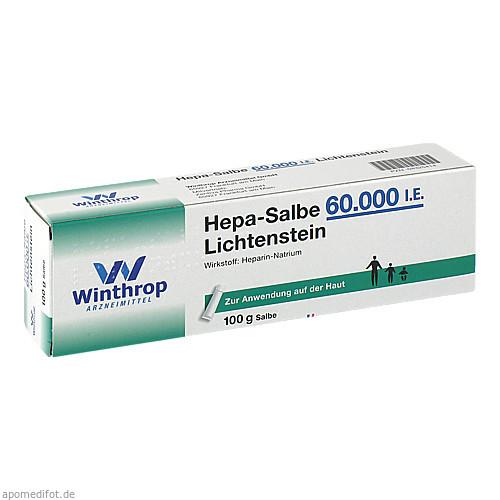 Hepa-Salbe 60000 I.E. Lichtenstein, 100 G, Zentiva Pharma GmbH