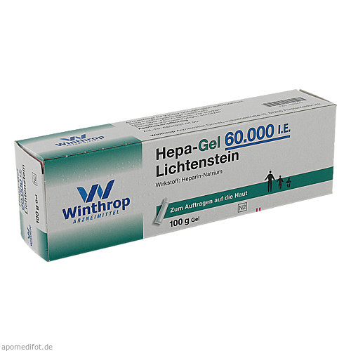 Hepa-Gel 60000 I.E. Lichtenstein, 100 G, Zentiva Pharma GmbH