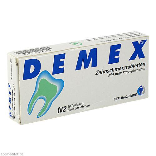 DEMEX ZAHNSCHMERZTABLETTEN, 20 ST, Berlin-Chemie AG