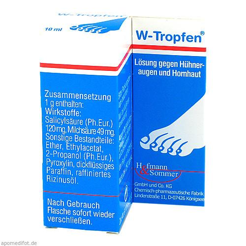 W-Tropfen Lösung gegen Hühneraugen u. Hornhaut, 10 ML, Hofmann & Sommer GmbH & Co. KG